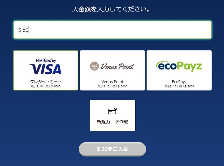 カジノの支払い方法